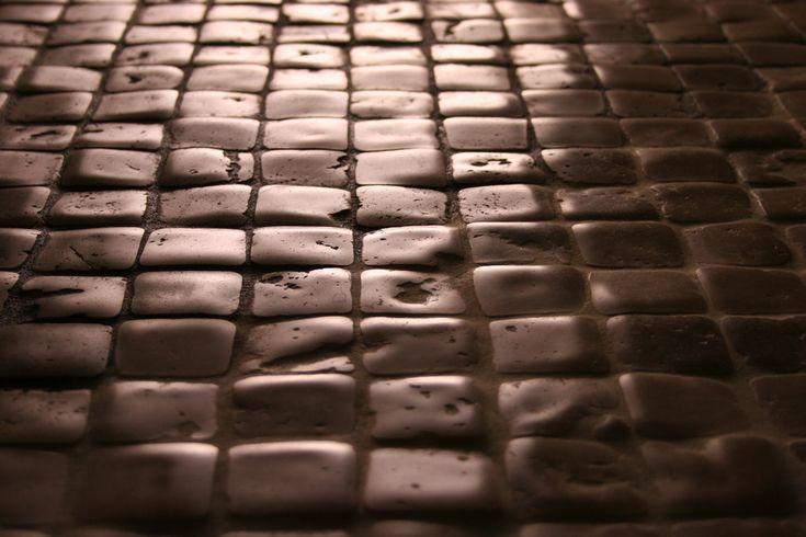 "Timeworn Mosaic 2""x2"" in travertine.... Made by Flli Barbieri Italy. www.giovannibarbieri.com"