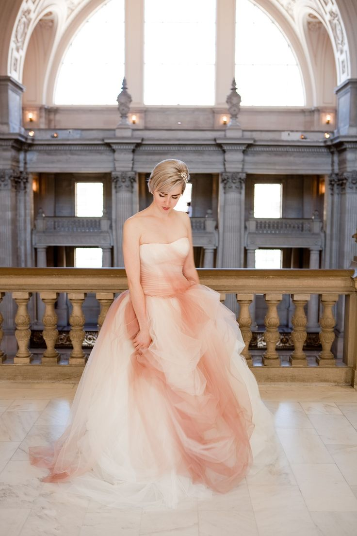 1000 images about wedding on pinterest vera wang for Pink wedding dress vera wang