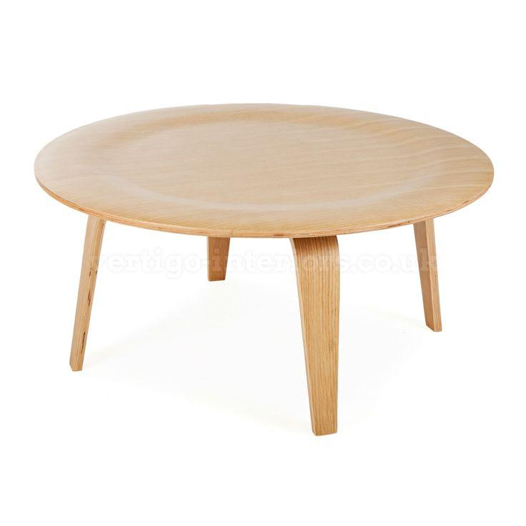 Eames Style Plywood Oak Coffee Table | Vertigo Interiors