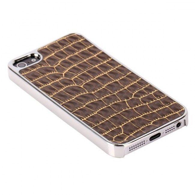 RaptorCase - Kromi Reunus (Ruskea) iPhone 5 Suojakuori - http://lux-case.fi/raptorcase-kromi-reunus-ruskea-iphone-5-suojakuori.html