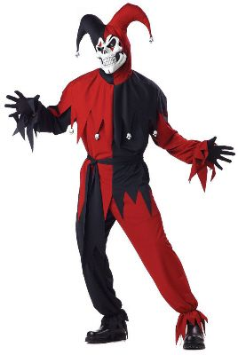 Men's Evil Jester Costume  #Halloween #Costumes #HalloweenCostumesForFamily Sherman Financial Group
