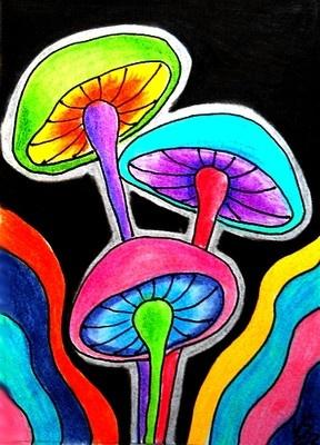 Herfst - gekleurde champignons