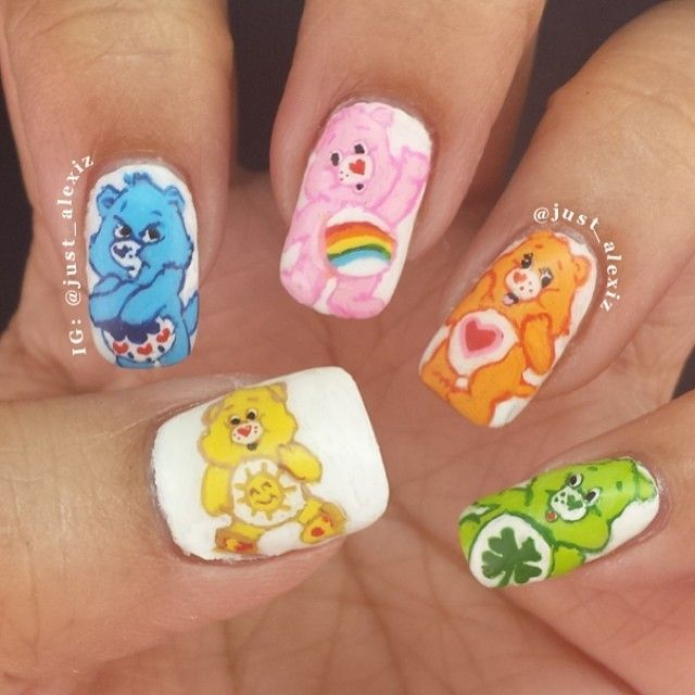 37 Pretty And Beautiful Cartoon Nail Art Designs - Best 25+ Cartoon Nail Designs Ideas Only On Pinterest Nail Art