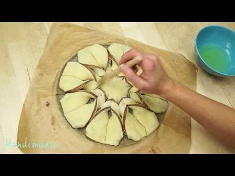 ▶ Braided Nutella Star Bread - YouTube