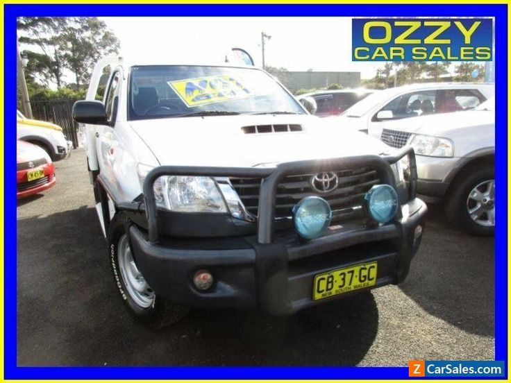 2014 Toyota Hilux KUN26R MY14 SR (4x4) White Automatic 5sp A Cab Chassis #toyota #hilux #forsale #australia