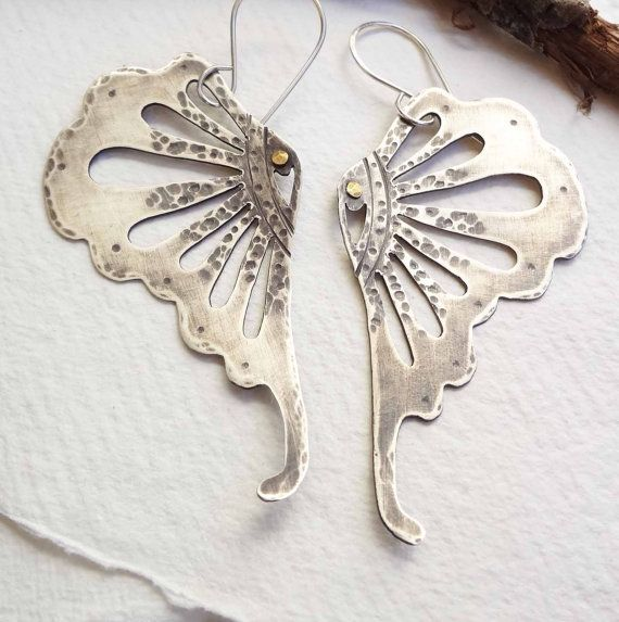 Sustainable Silver Butterfly Earrings by sustainablejewelry, $151.00. Atlanta's own! Awesome! Awesome!