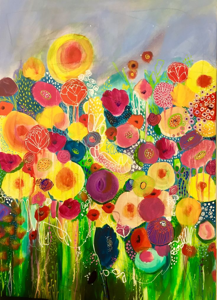 Florals are painting themselves!!! Abstract art, abstract painting, flower painting