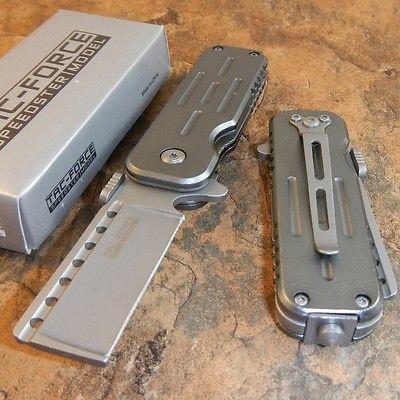 TAC-FORCE Spring Assisted Opening Razor Blade Glass Breaker Pocket Knife NEW