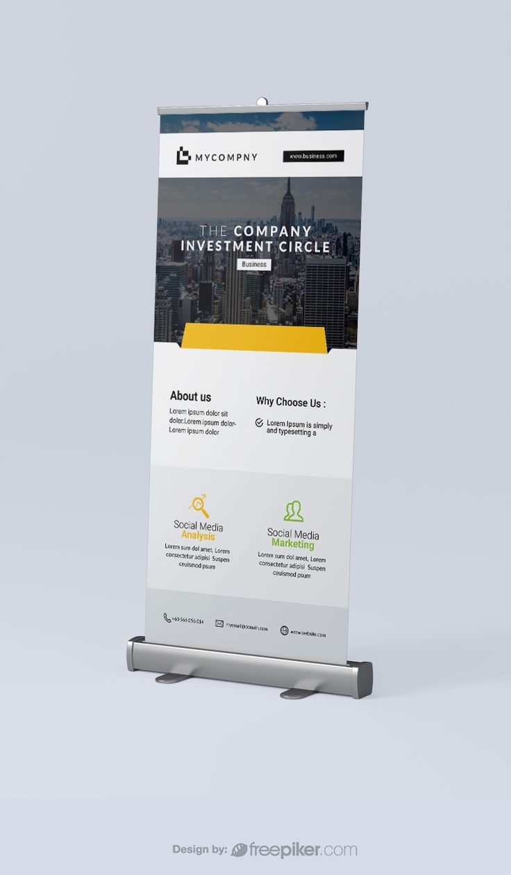 Corporate rollup banner rollup banner standee design