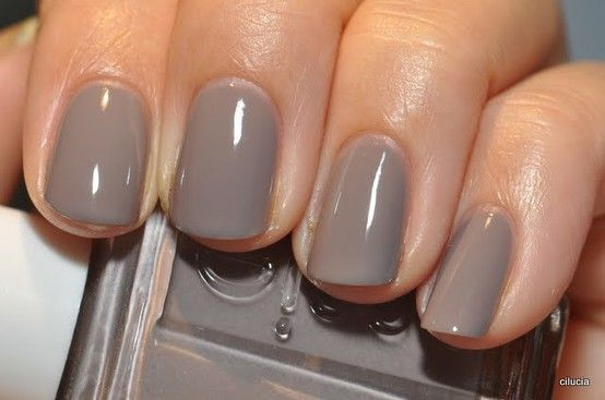 Essie nail polish in Chinchilly - wearing it on my nails at the moment :)