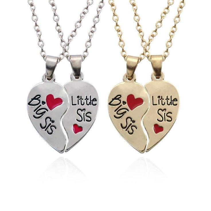 Big Sister Little Sister Necklaces Prove your bond to your sister with one of these stunning sister necklaces  Click Image To Get Yours..  sister necklace | sister necklace for 2 | sister necklace for 3 jewelry | sister necklace for 2 simple | sister necklaces for three | Sister Necklaces | Sister Necklaces | Sister Necklaces |  #sisters #sisternecklace #sisterjewelry #sisterhood #sisterlove