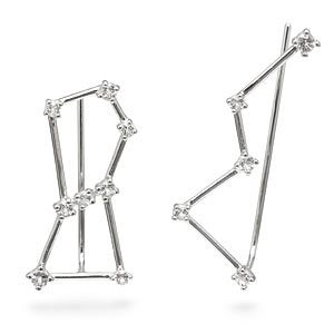 Check out this stellar jewelry. Choose the Big Dipper and the Little Dipper or Orion and Cassiopeia in these climbing earrings. Or go crazy and mix them up!