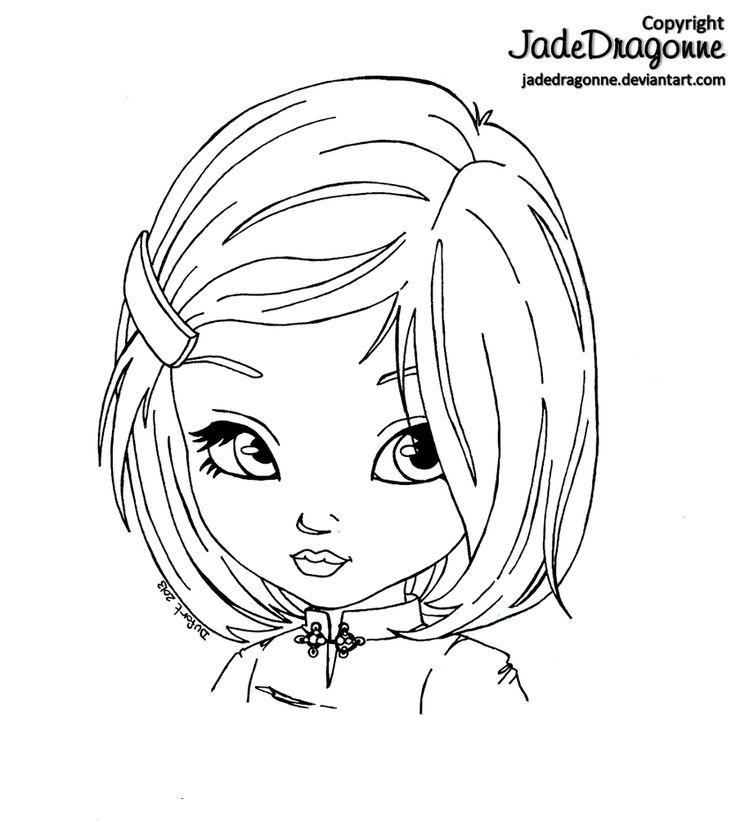 asian girl by jadedragonne on deviantart digital stampscoloring pagestamponsprintableskids diycopicdeviantartcrayonscardmaking
