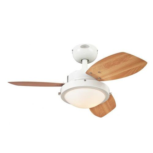 "Westinghouse Lighting 30"" Wengue 3 Blade Ceiling Fan, 2 40-watt candelabra bulbs"