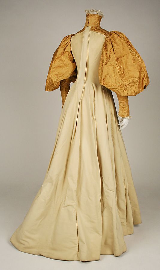 Bridesmaid dress House of Worth  (French, 1858–1956)   Date: 1896 Culture: American. Back