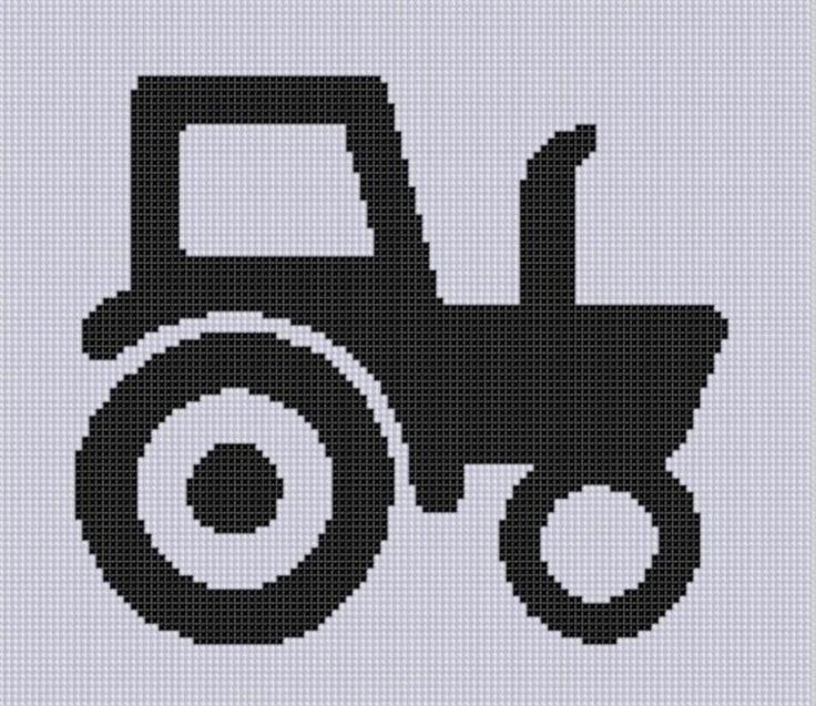Tractor 8 Cross Stitch Pattern