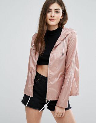 New Look Zip Front Rain Jacket