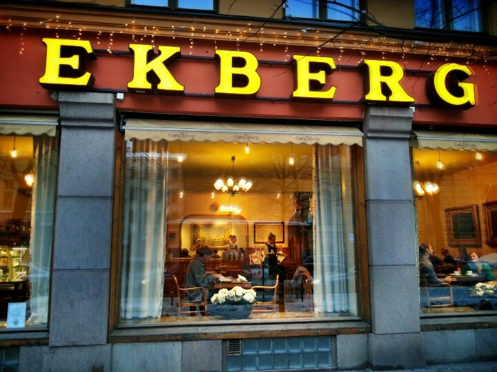 Cafe Ekberg in Helsinki, Finland.  I don't drink coffee, but would like to visit there anyway, lol.