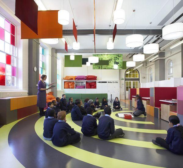 Primary school design london colorful interior for The interior design school