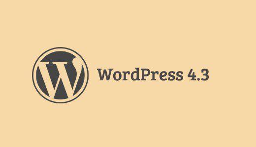 Четыре месяца разработки – и вот новый релиз WordPress 4.3 «Billie» стал доступен для скачивания. Релиз был назван в честь Билли Холидей, американской джазовой певицы. Основные особенности новой ве…