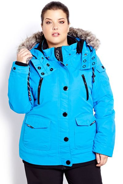 Plus Size Noize Ski Jacket Addition Elle #plussize #plussizefashion #plussizecoats #plussizejackets #plussizeouterwear