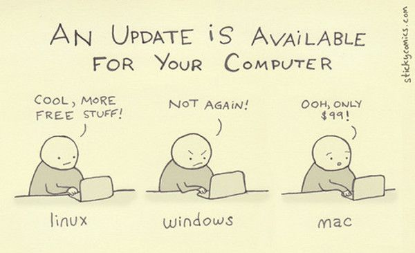 Information Technology Humor | 10 Funny Jokes In Pictures: Windows Vs Mac Vs Linux
