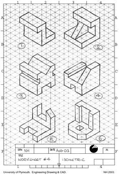 Isometric Drawing Exercises cakepins.com