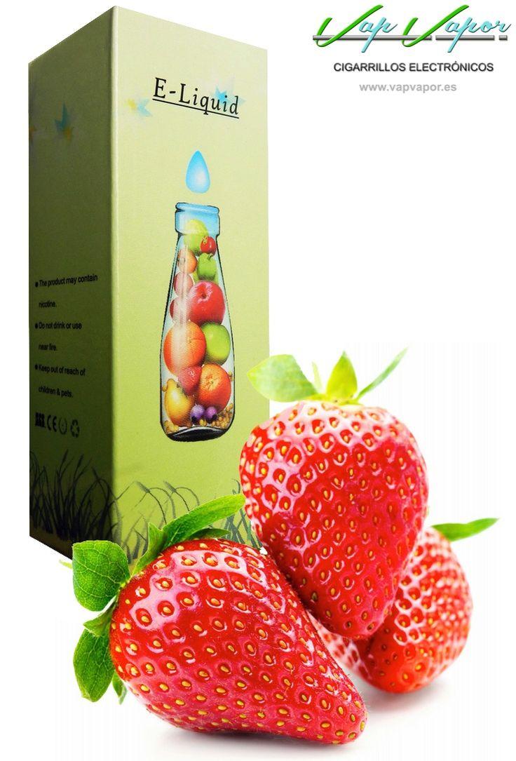 e-liquid Fresa  http://www.vapvapor.es/liquido-frutas-cigarrillo-electronico  Líquidos para cigarrillos electrónicos de la marca e-liquid. Nuestra marca e-liquid se caracteriza por su gran variedad de aromas y sabores.     - e-liquid sabor Fresa (afrutado)     - Categoría: frutas