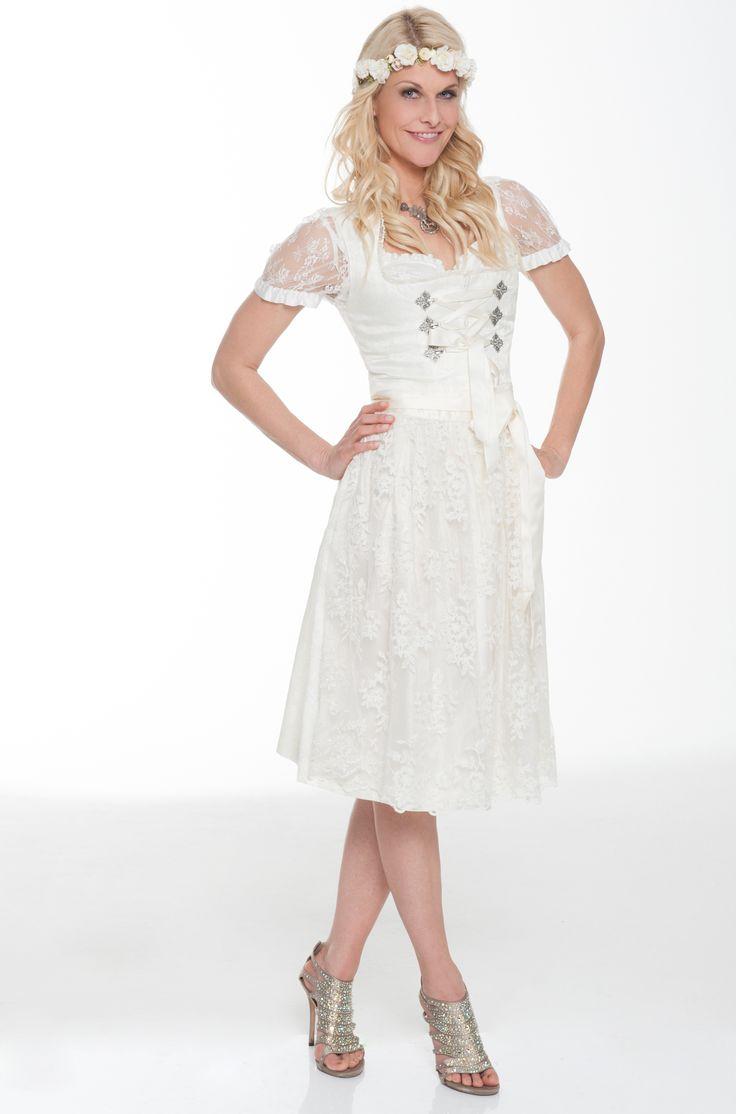 Mit dem richtigen Dirndl macht heiraten noch mehr Freude! Edles Dirndl von Alpenmädel zu leihen bei dresscoded.com. #dresscoded