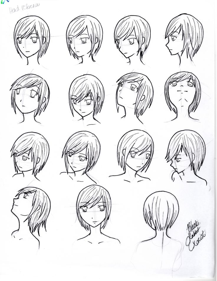Reference- Head face angles and perspective by