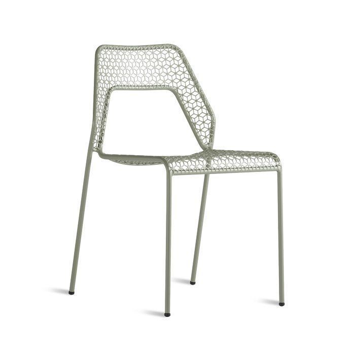 Raina Stacking Patio Dining Chair Set Of 2 Metal Patio Chairs Mesh Chair Metal Chairs