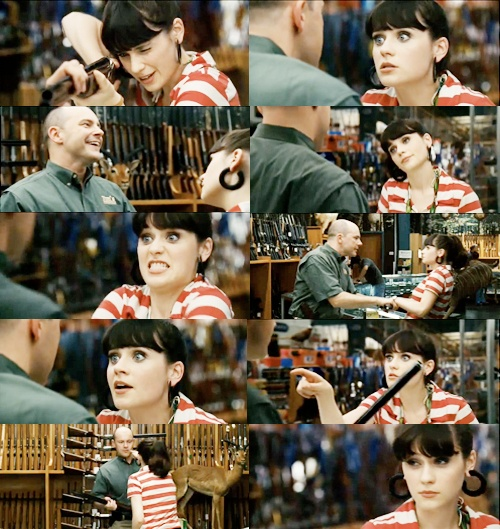 Quote of the Day – Failure To Launch, Zooey Deschanel:  - So I just point and then I squeeze the trigger and then BOOM!?