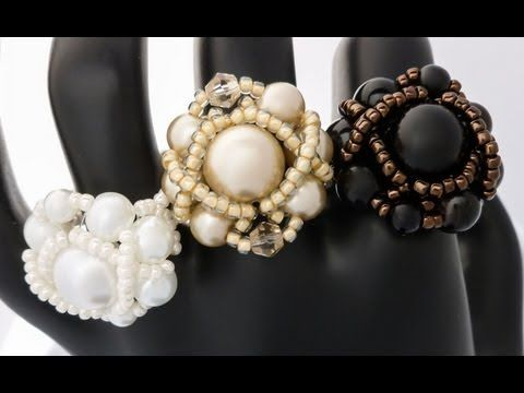TheHeartBeading: Pearl Ring Tutorial - YouTube