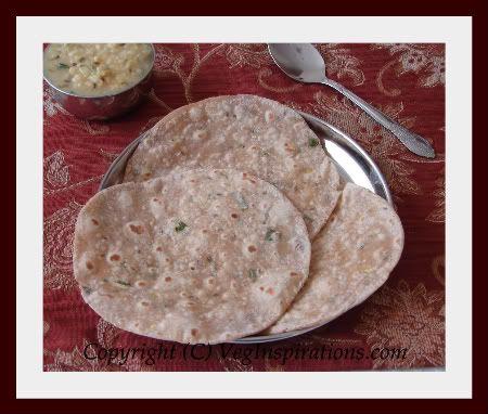Potato Roti- Indian flat bread with whole wheat flour and potatoes