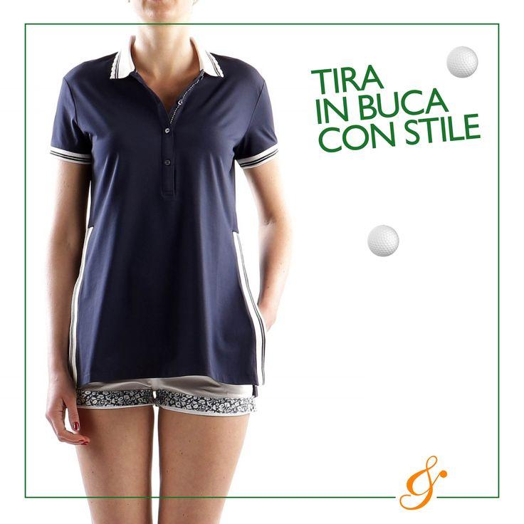 Come scegliere il giusto outfit per giocare a golf? Guarda i nostri suggerimenti ! www.leaeflo.com  POLO shirt