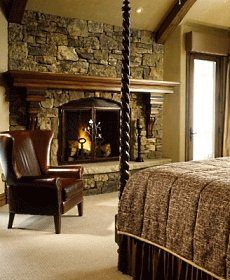 I miss not having a fireplace. Having one in my room would ...