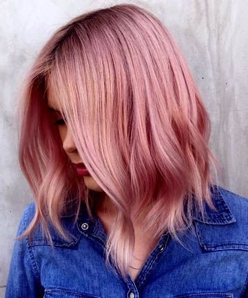 19 rose gold hair color looks that absolutely slay haar. Black Bedroom Furniture Sets. Home Design Ideas