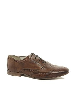 ASOS | ASOS Brogue Shoes in Leather at ASOS