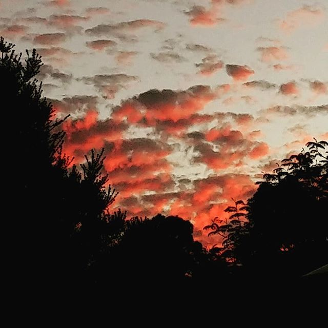 I need a rooftop balcony..  . #clouds #sunsetclouds  #redclouds #cloudporn #frankston