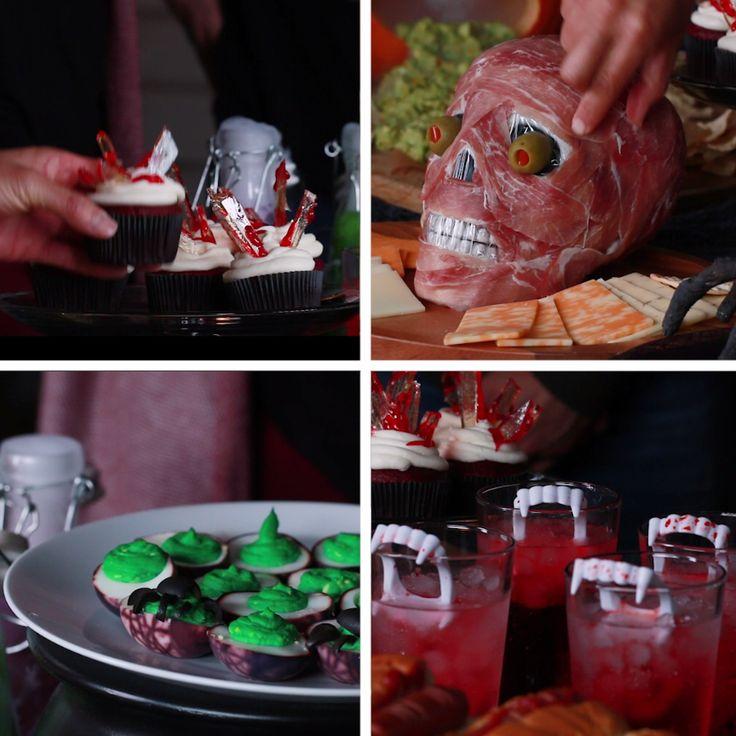 7 Terrifying Halloween Food Ideas  // #halloween #halloween2017 #halloweenfood #halloweendecor #nifty #diy