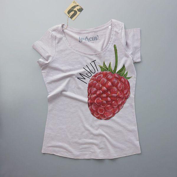 MJUT MALINA koszulka damska - YURCOV - Koszulki z okrągłym dekoltem