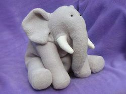 Free stuffed animal sewing patterns Create this cute elephant with some of your very own custom designed fabric from www.myfabricdesigns.com