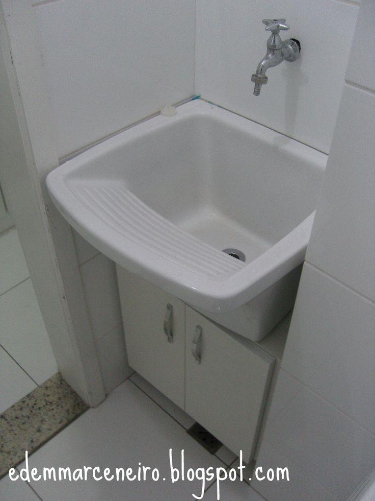 Edem Marceneiro Armário sob o tanque de lavar roupas  interior inspiration  # Armario De Banheiro Pvc