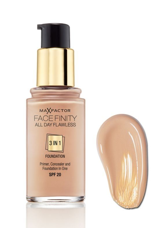 Max Factor All Day Flawless Foundation 45 Warm Almond