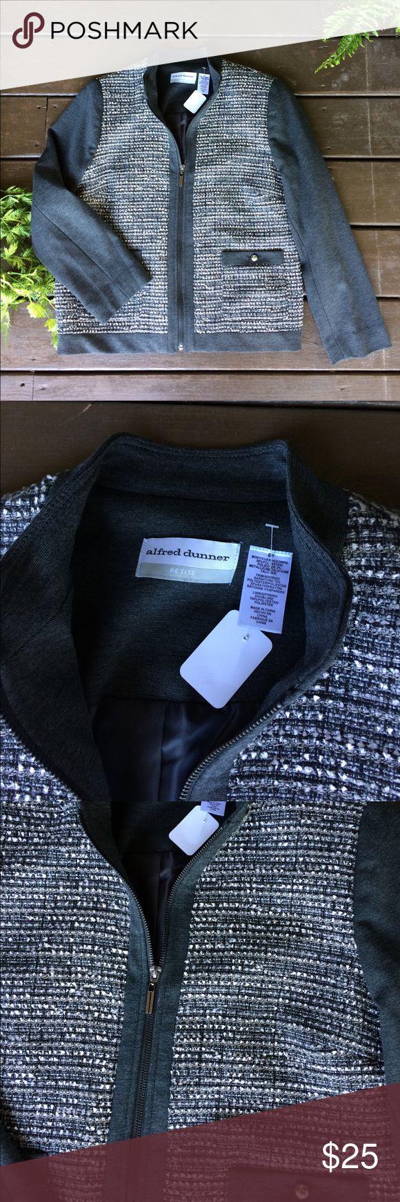NWT Alfred Dunner petite zip up jacket coat Size 8 petite, pocket in front, lined, zip up Alfred Dunner Jackets & Coats
