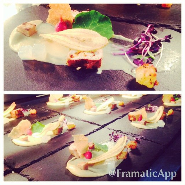 Second course from the Caribbean Trinidad spatchcock with taro texture and pickled pineapple. #canberra #fireandspice
