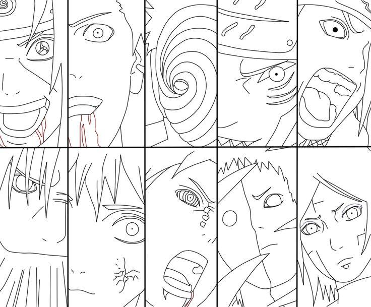 Akatsuki members by FabianSM Desenhos para colorir
