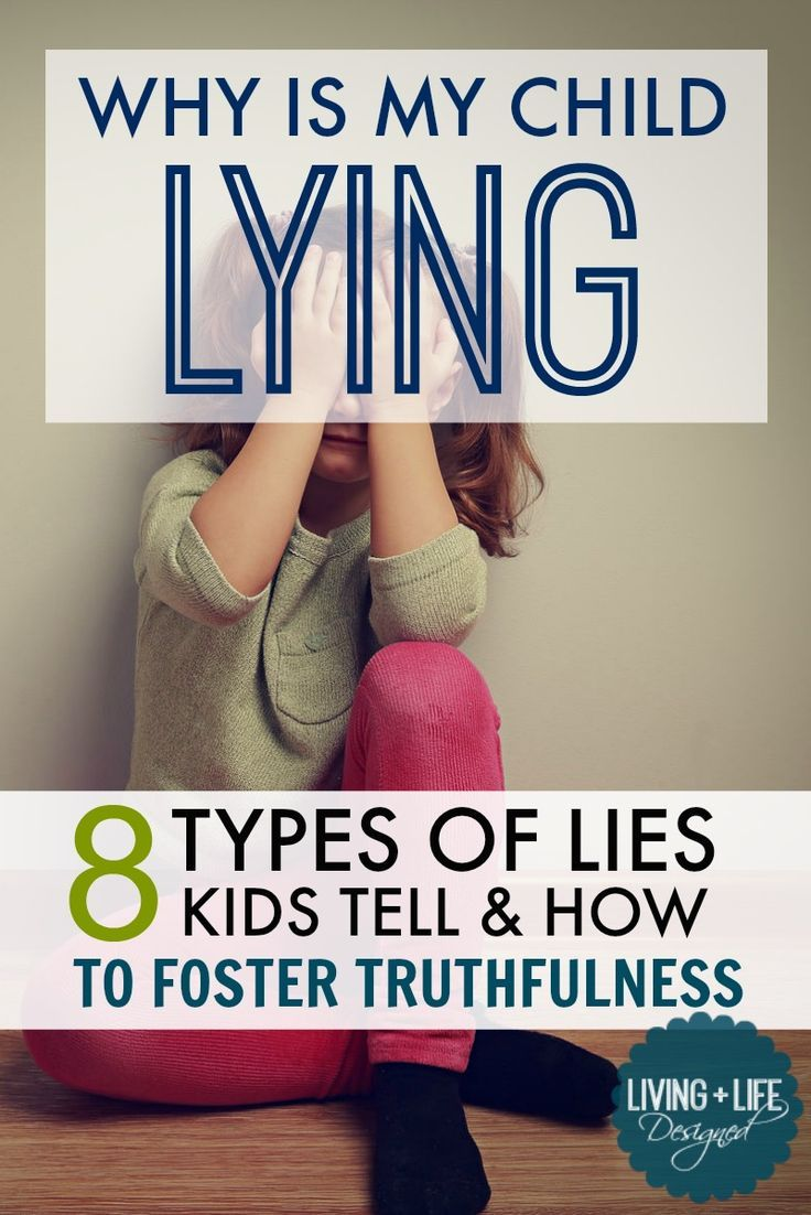 The eight different types of lies kids commonly tell and understanding the reasons behind each. Pay attention to the type of lie to understand what prompted them to be untruthful in the first place. Sometimes, the type of lie can give way to discovering b
