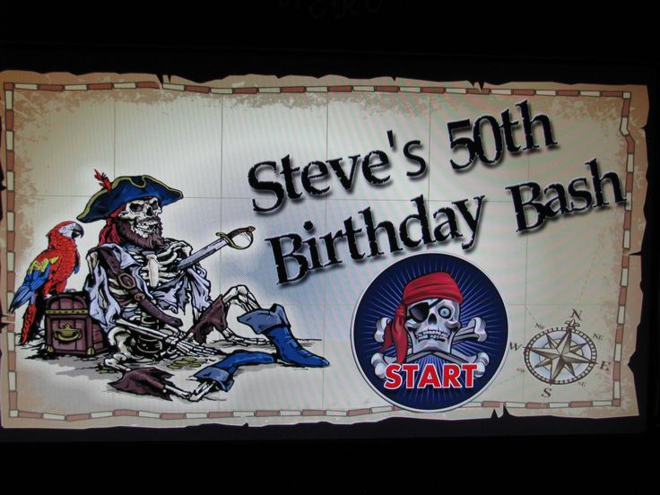 Steve's 50 th Bday Booth Screen
