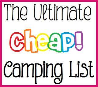 livin' on l♥ve: Camping List
